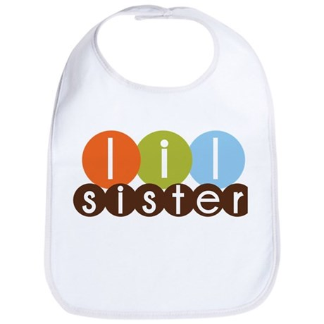 mod circles little sister shirts Bib