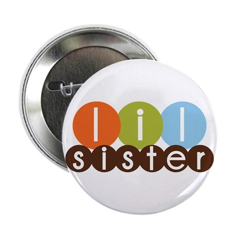"mod circles little sister shirts 2.25"" Button"