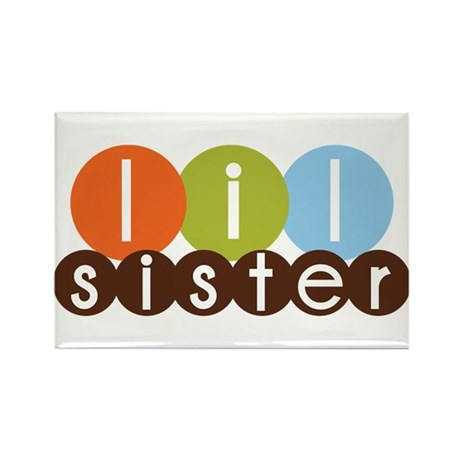 mod circles little sister shirts Rectangle Magnet