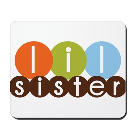 mod circles little sister shirts Mousepad