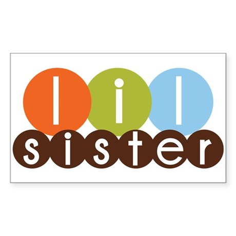mod circles little sister shirts Sticker (Rectangl