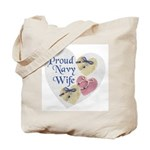 Proud Navy Wife Tote Bag