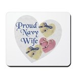 Proud Navy Wife Mousepad