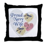 Proud Navy Wife Throw Pillow