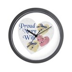 Proud Navy Wife Wall Clock