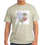Proud Navy Wife Ash Grey T-Shirt
