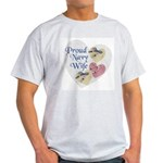 Proud Navy Wife Ash Grey T-Shirt
