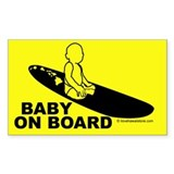 Baby On Board Rectangle Bumper Stickers