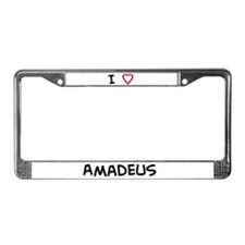 I love Amadeus License Plate Frame