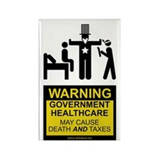 Healthcare Warning Rectangle Magnet