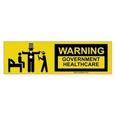 Healthcare Warning Bumper Bumper Sticker