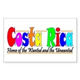 Costa Rica Wanted (Bright) Rectangle Decal