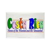 Costa Rica Wanted (Green) Rectangle Magnet (10 pac