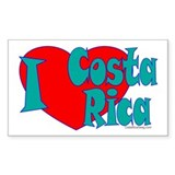 I Heart Costa Rica Rectangle Sticker 10 pk)