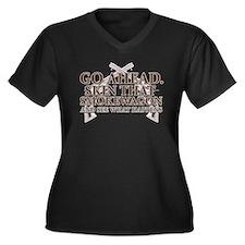 Smokewagon Women's Plus Size V-Neck Dark T-Shirt
