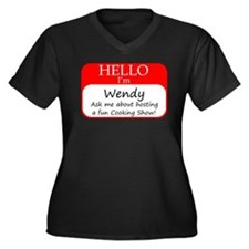 Wendy Women's Plus Size V-Neck Dark T-Shirt