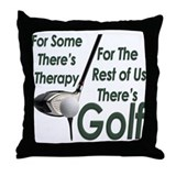 Golf Therapy Throw Pillow