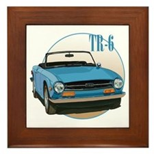Funny Sports car Framed Tile