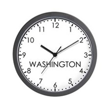 WASHINGTON Modern Newsroom Wall Clock