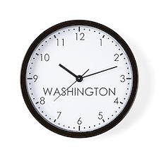 WASHINGTON Modern Newsroom Wall Clock