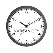 VATICAN CITY Modern Newsroom Wall Clock