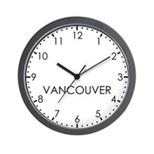 VANCOUVER Modern Newsroom Wall Clock