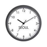 SEOUL Modern Newsroom Wall Clock