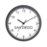 SAN DIEGO Modern Newsroom Wall Clock