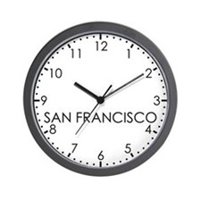 SAN FRANCISCO Modern Newsroom Wall Clock