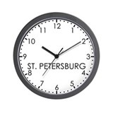 ST. PETERSBURG Modern Newsroom Wall Clock