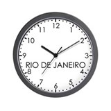 RIO DE JANEIRO Modern Newsroom Wall Clock
