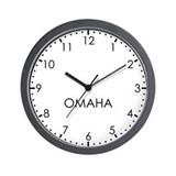 OMAHA Modern Newsroom Wall Clock