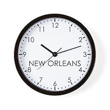 NEW ORLEANS Modern Newsroom Wall Clock