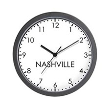 NASHVILLE Modern Newsroom Wall Clock