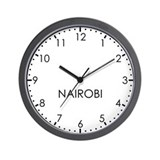NAIROBI Modern Newsroom Wall Clock