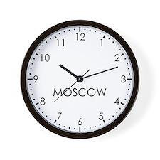 MOSCOW Modern Newsroom Wall Clock