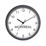 MONTREAL Modern Newsroom Wall Clock