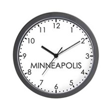 MINNEAPOLIS Modern Newsroom Wall Clock