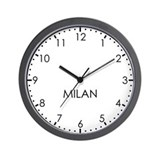 MILAN Modern Newsroom Wall Clock