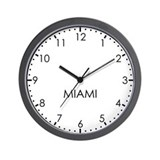 MIAMI Modern Newsroom Wall Clock