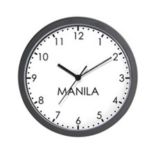 MANILA Modern Newsroom Wall Clock