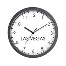 LAS VEGAS Modern Newsroom Wall Clock
