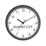 KUWAIT CITY Modern Newsroom Wall Clock