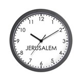 JERUSALEM Modern Newsroom Wall Clock