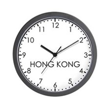 HONG KONG Modern Newsroom Wall Clock