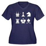 Chess Women's Plus Size V-Neck Dark T-Shirt
