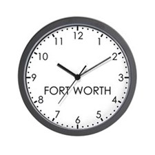 FORT WORTH Modern Newsroom Wall Clock