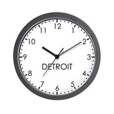 DETROIT Modern Newsroom Wall Clock