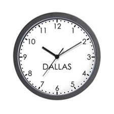 DALLAS Modern Newsroom Wall Clock