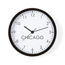 CHICAGO Modern Newsroom Wall Clock